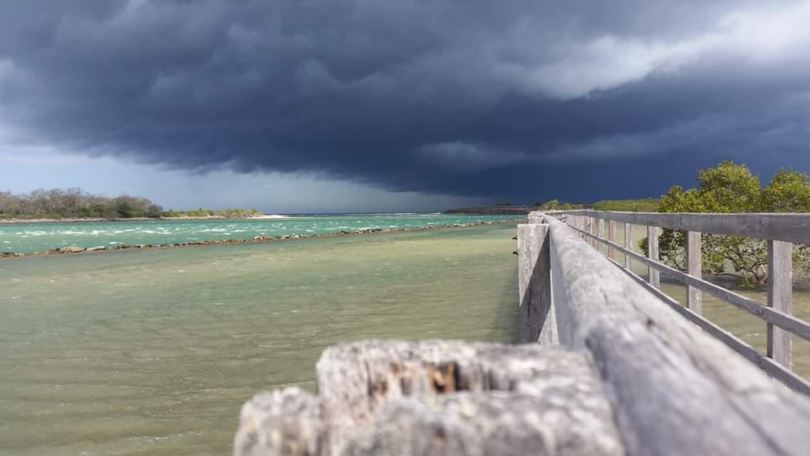 Advocate reader Cameron Smith shared this image of the thunderstorm over Urunga.