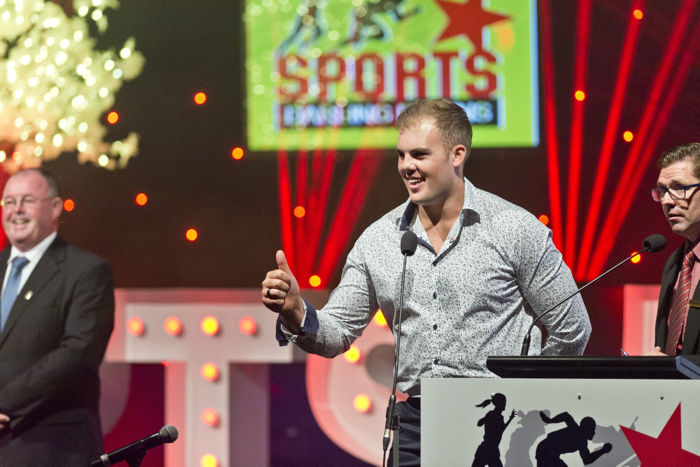 Sports Darling Downs Senior Sports Star of the Year Matthew Denny at the awards dinner at Rumours International, Saturday, February 9, 2019.