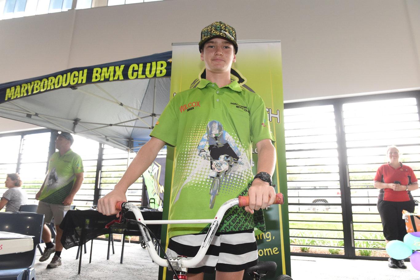 Maryborough all sports showcase - 12yo Kobi Bastable from Maryborough BMX Club.