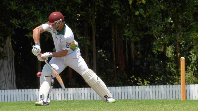 BATTER UP: Rockhampton Brothers' Jason Batchelor batting against BITS on Saturday.