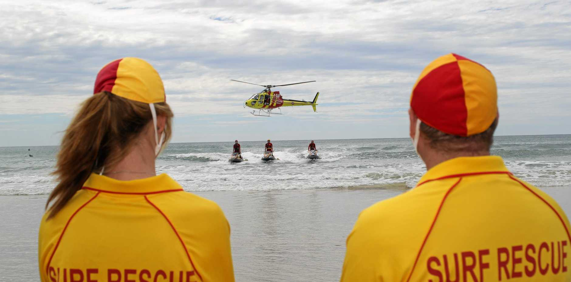 Surf Life Savers rescued an elderly man from Kings Beach.