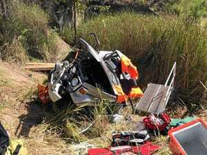 HORROR SCENE: Destroyed car winched from ditch