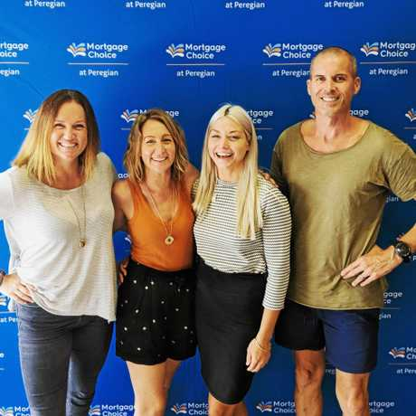 Staff from Mortgage Choice Peregian Beach. Owner Broker, Larissa Barton, Customer Care, Aly Hawkins, Loan Packager Caitlin Donnelly and Owner Broker Gordon MacVicar. Mr MacVicar is worried about the impact the royal commission will have on mortage brokers.
