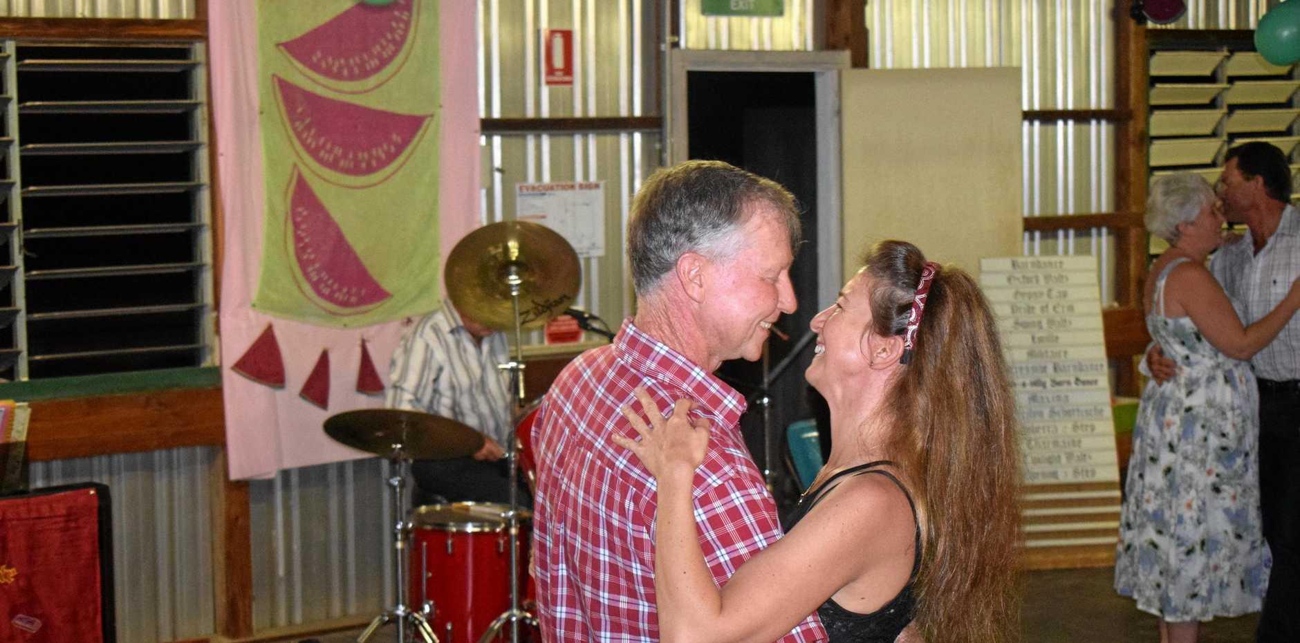 John Prior and Zita Stark at the Cameby Hall Melontine Dance - Saturday Feb 9, 2019.
