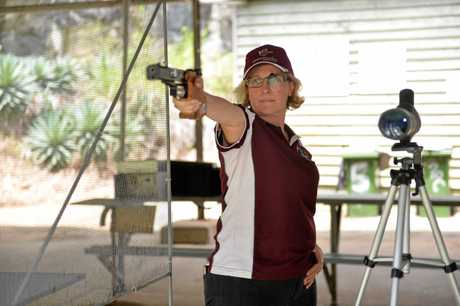 Mackay 47 year old accountant, Lisa Laffy was recently selected to represent Queensland at the National titles to be held in Melbourne later in the year for the .22 sports pistol match.