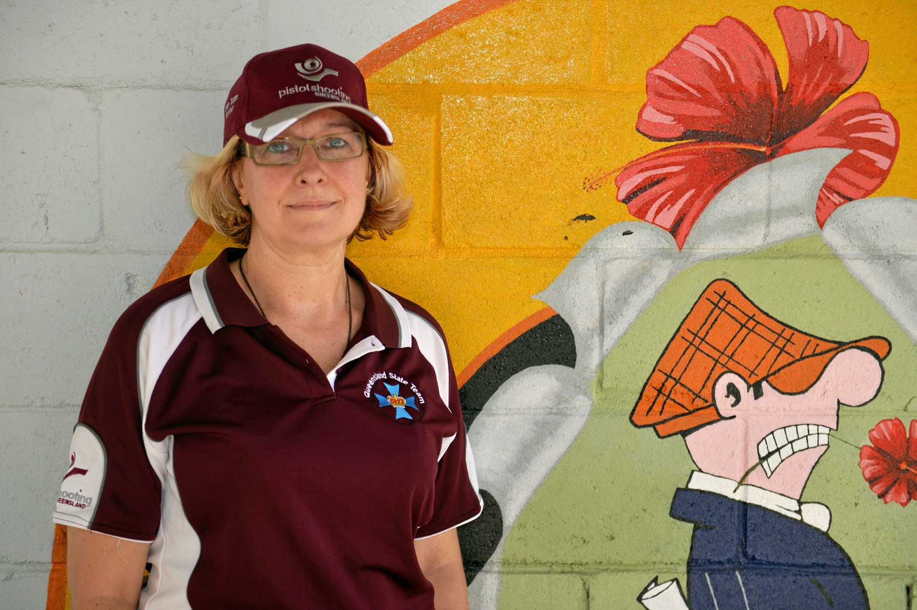 Mackay accountant, Lisa Laffy was recently selected to represent Queensland at the National titles to be held in Melbourne later in the year for the the .22 sports pistol match.