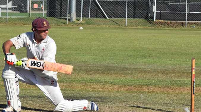 OLD HAND: Mick Warburton finds some runs behind point while batting for Tintenbar-East Ballina in Far North Coast LJ Hooker League cricket.