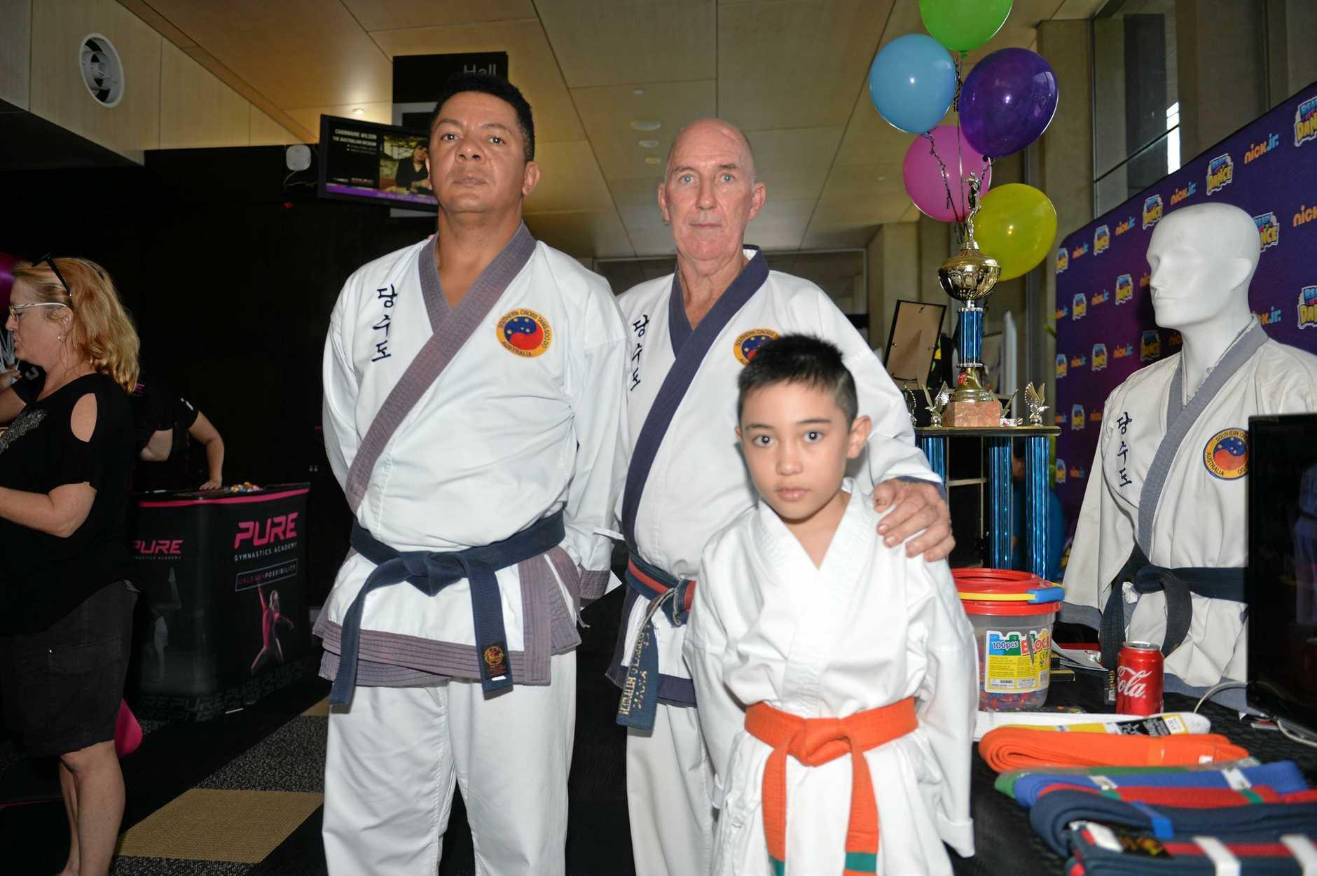 Lenilson Rodrigues, Master Gordon Rickard and Aaron Rickard from Southern Cross Tang Soo Doo.