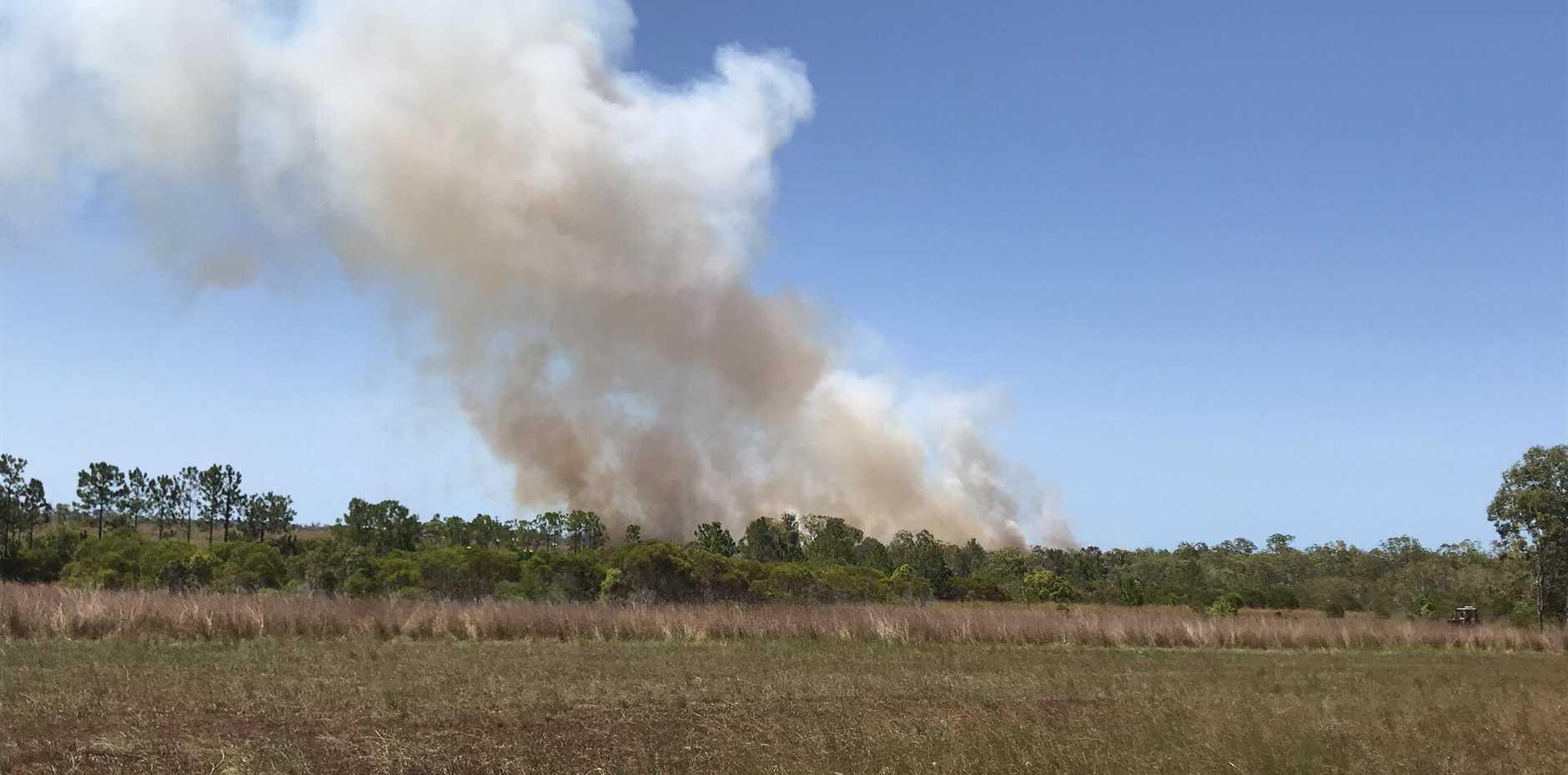 ONGOING: Blaze continues at Branyan.