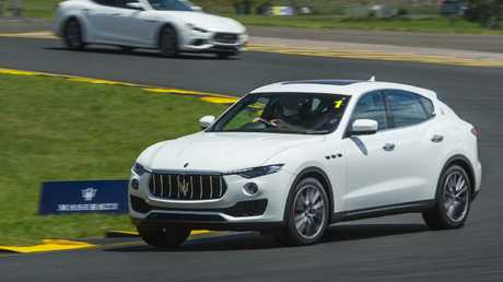 The Levante is still dynamic on the track despite its weight and height.
