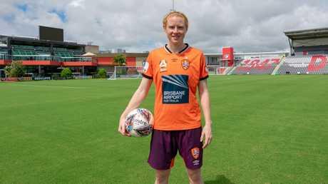Brisbane Roar W-League captain Clare Polkinghorne at Dolphin Stadium. Picture: Ant Sartori