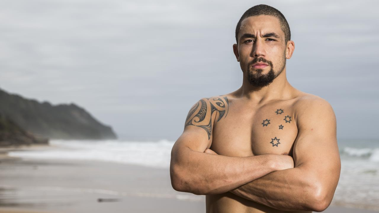 Australia's UFC world champion Rob Whittaker is out with a hernia. Picture: Dylan Robinson