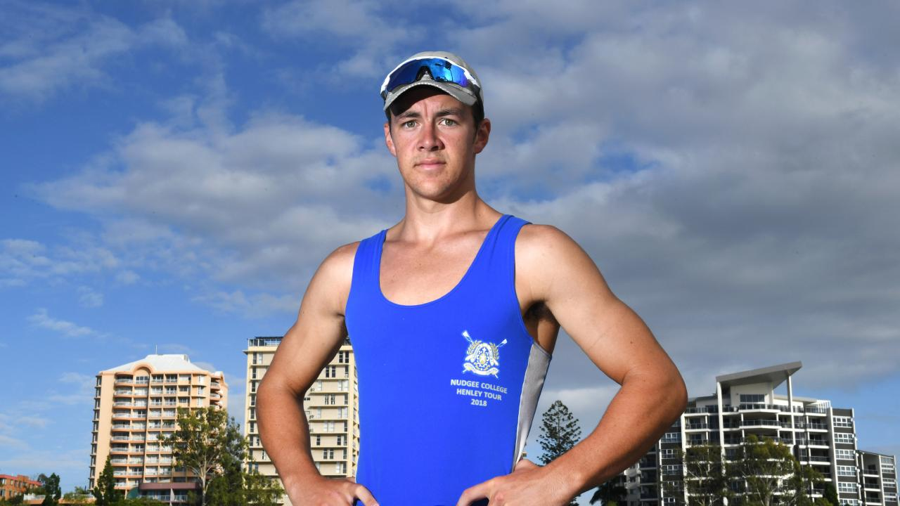 Patrick Long is the national under-17 single scull champion. Picture: AAP