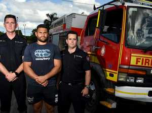 NRL star lends a hand to flood efforts