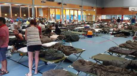 2nd Battalion, The Royal Australian Regiment evacuation centre during the floods at Townsville.