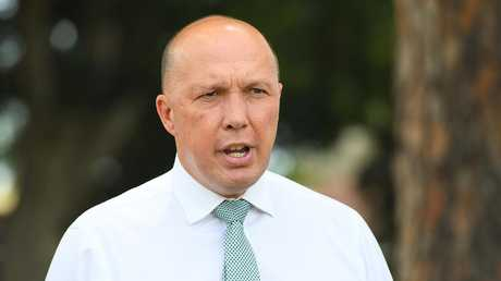 Peter Dutton is battling the bizarre but convenient leaking of confidential intelligence material. Picture: AAP