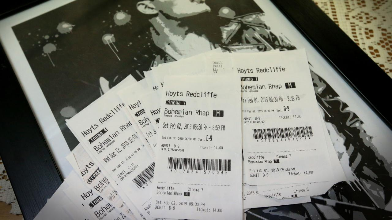 The ticket stubs. Pic Jamie Hanson