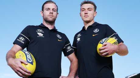 Carlton co-captains Sam Docherty and Patrick Cripps.