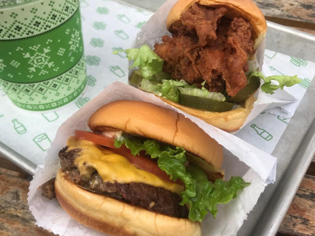 OK, I lied. I got two burgers.