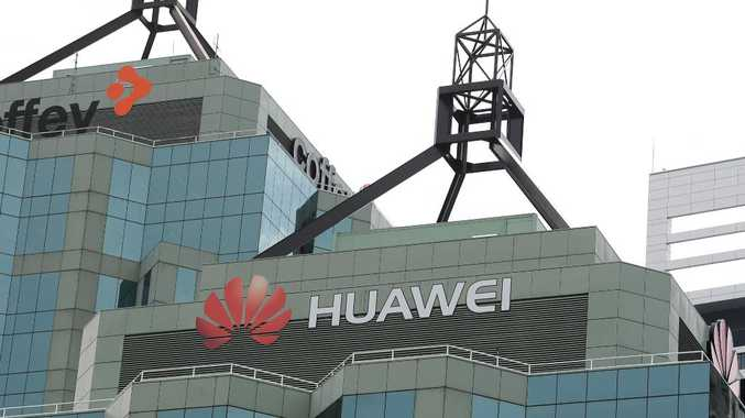 The Sydney headquarters of Chinese tech company Huawei at Chatswood. Picture: AAP