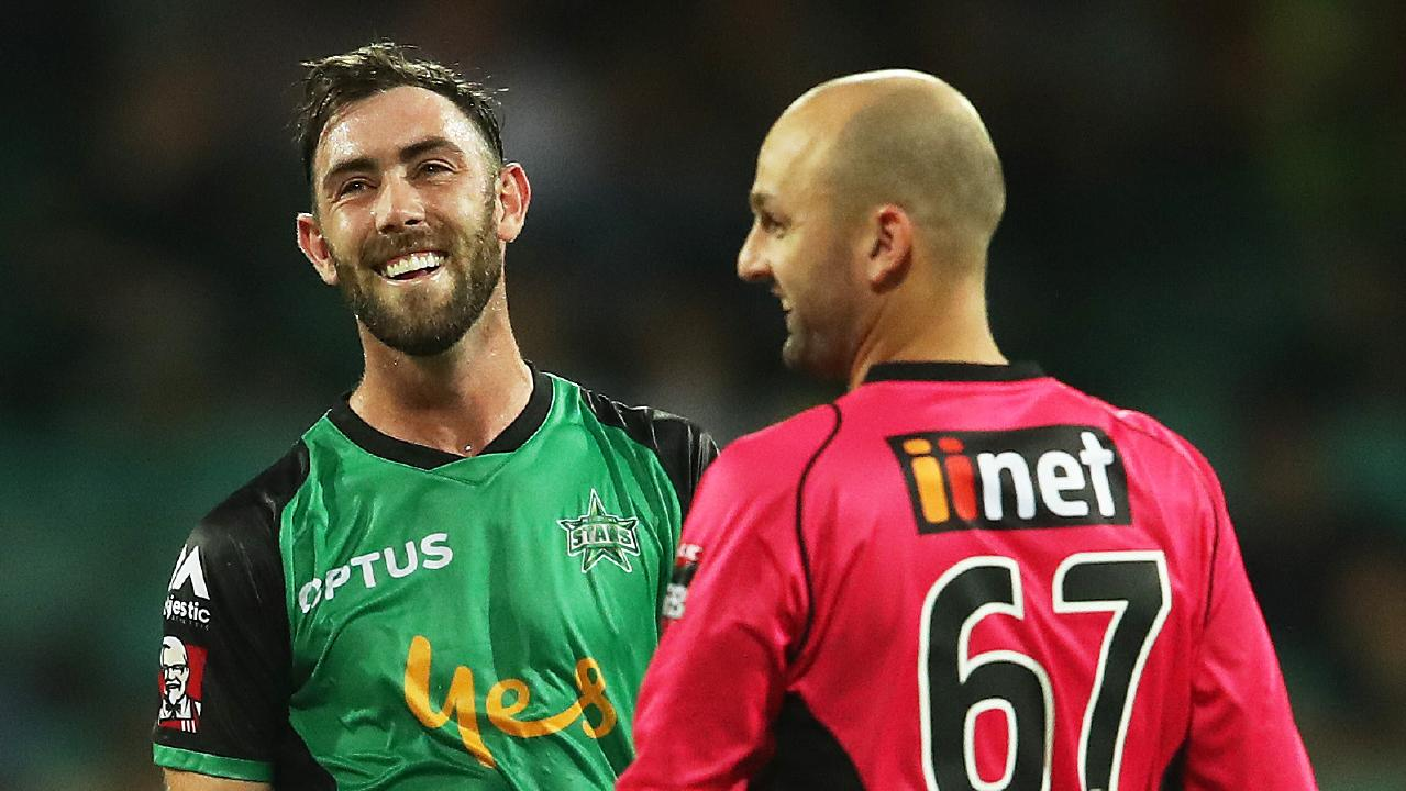Glenn Maxwell and Nathan Lyon are set for a great contest. Picture: Phil Hillyard