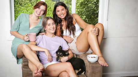 Holly Kernahan, 24, Maddison Davey, 24, and Tamsin Wight, 26, all share house together in Ringwood while they are studying at university. The story is about how to go about getting a rental lease and the costs involved and what you need to what out for. Picture- Nicole Cleary