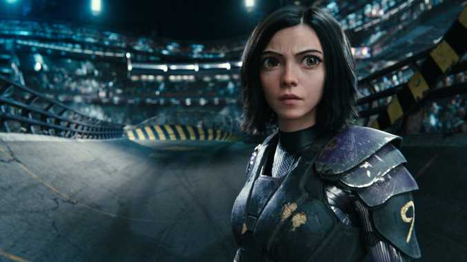Rosa Salazar in a scene from the movie Alita: Battle Angel. Supplied by Twentieth Century Fox.