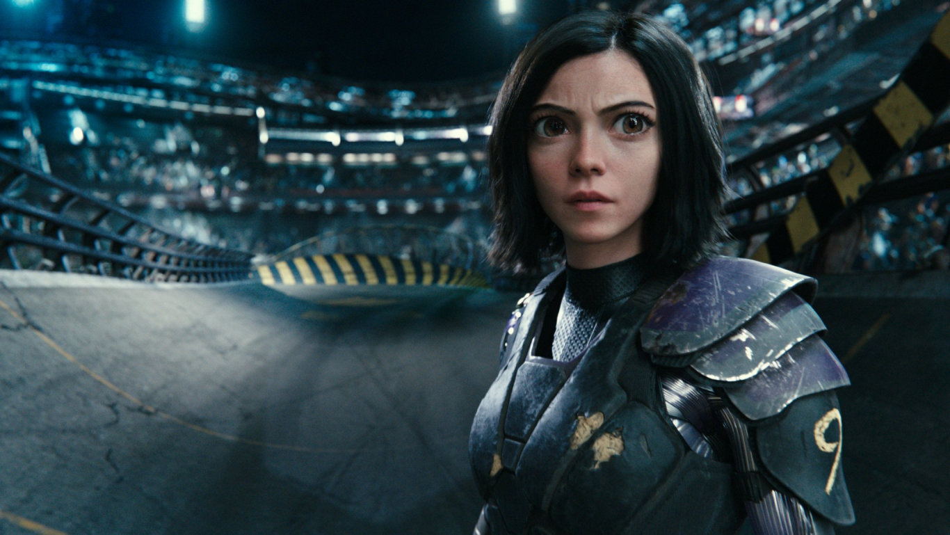 Rosa Salazar stars in the movie Alita: Battle Angel.