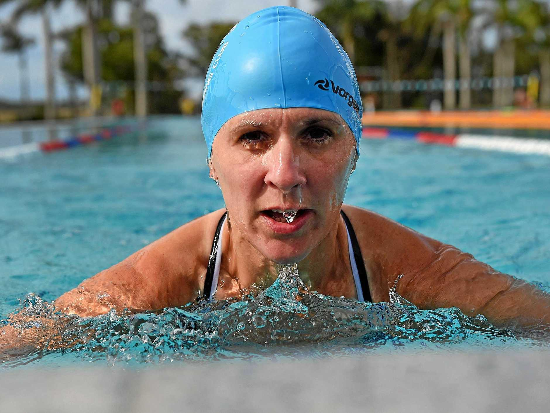 HEAD FIRST: Hervey Bay Humpbacks Masters Swimming Club member Jane Webb will compete at the annual masters swimming meet later this month.