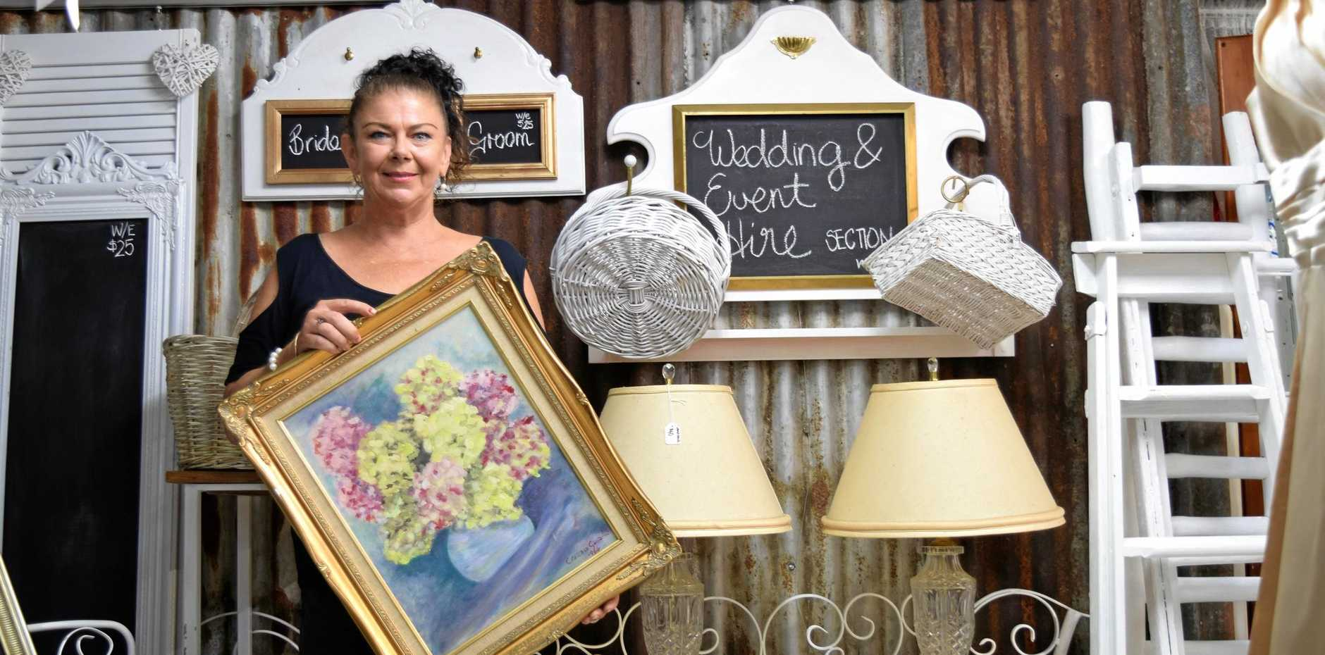 DIVERSIFYING BUSINESS: Casino's Reuse Furniture and Collectables now offers household furniture and decor for hire alongside the wedding hire and goods sales.