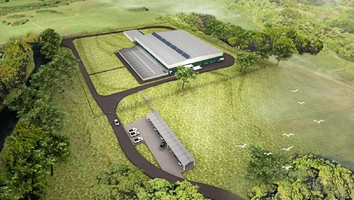 A DA is with Byron Shire Council and licenses are with the Office of Drug Control for four greenhouses and a processing facility.