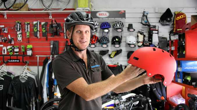 HELMETS SAVE LIVES: Lismore's Just Ride Cycles proprietor Jason Sipple said wearing a properly fitted helmet which meets Australian Standards can save your life. Mr Sipple was pleased to hear of a new UNSW report which found Australian Mandatory Helmet Laws brought in to reduce fatalities in cycling have worked and led to an immediate 46 per cent drop in fatalities. .