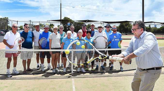 SCORING MORE FUNDING: Federal member for Hinkler Keith Pitt was a big hit at the Hervey Bay Tennis Club after securing them a $149,500 grant from the second round of the Community Sport Infrastructure Program.