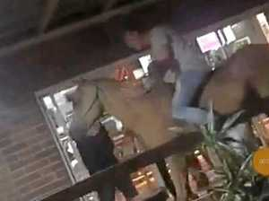 VIDEO: $10k horse taken on drunken joyride into pub