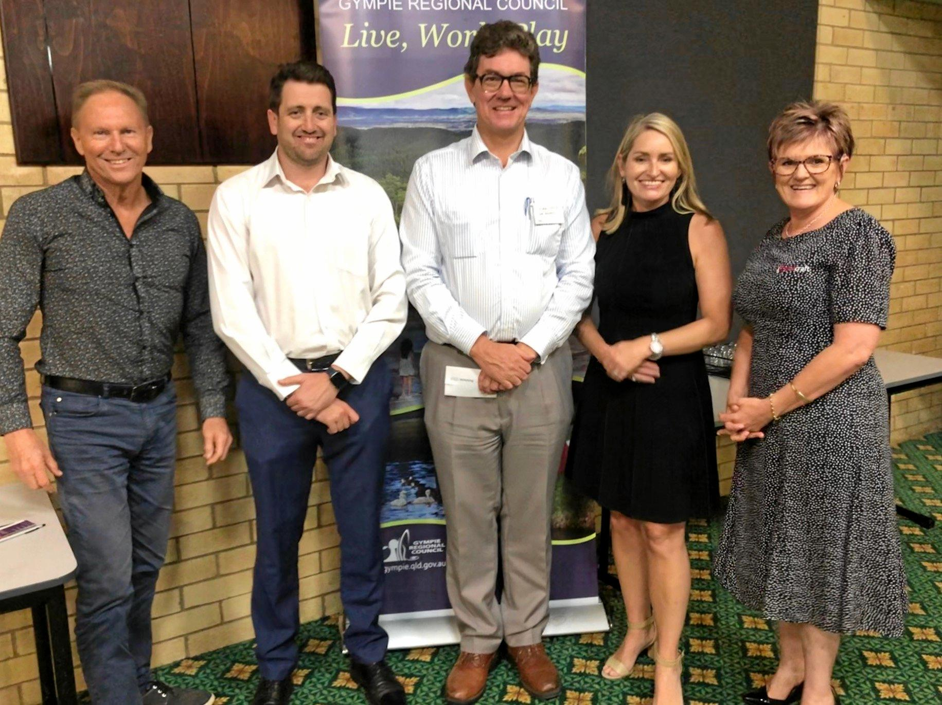 The new-look Gympie Chamber of Commerce board.