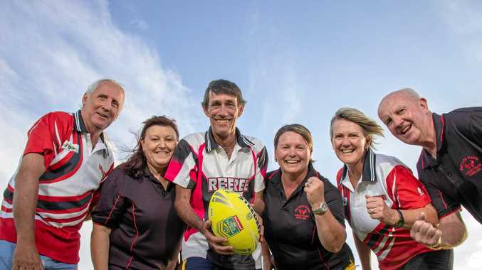 TOPS: Laidley Touch Association's Pat Byrnes, Jill Ilka, Andrew and Sharon Hooper, Shelly Dennien and Dan Flanagan celebrate their award.