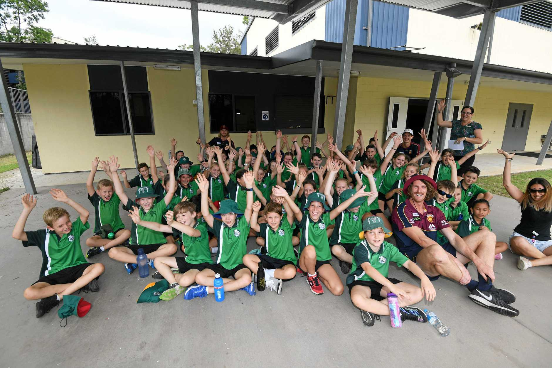 Jones hill class visited by Brisbane Lyons players
