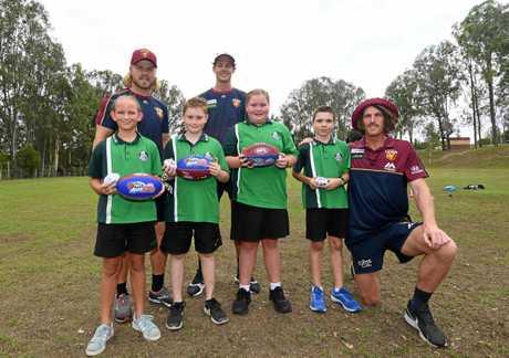Lions players- Daniel Rich, Matt Eagles, Tom FullartonJones Hill Kids-   Mason Treloar, Mackenzie Krafft, Mahli Lobegeier, Bailee Green