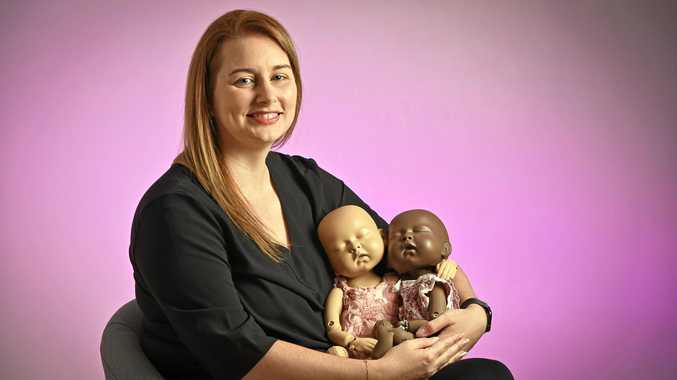 UNIQUE: Sandra Moffatt, founder of StandInBaby, the world's first fully articulated, lifelike, newborn model.