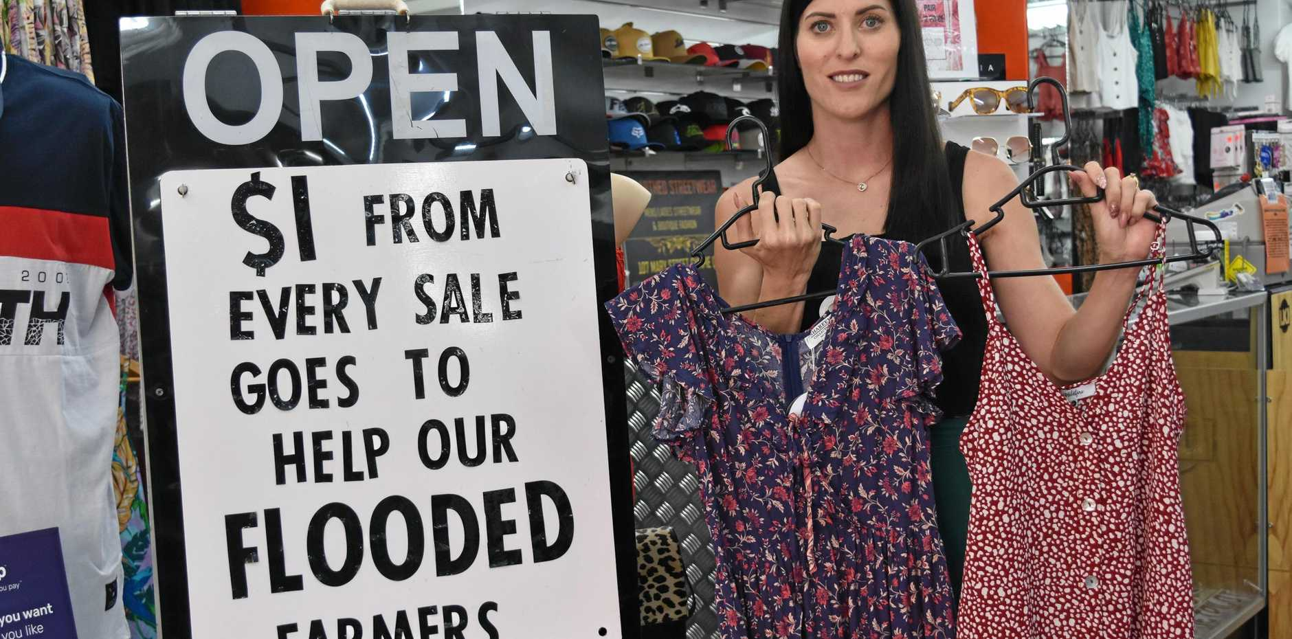 SUPPORTING NQ FARMERS: Gympie store owner of Unearthed Tracey Clarke said her business will be donating $1 for every transaction made to the North Queensland flood appeal.