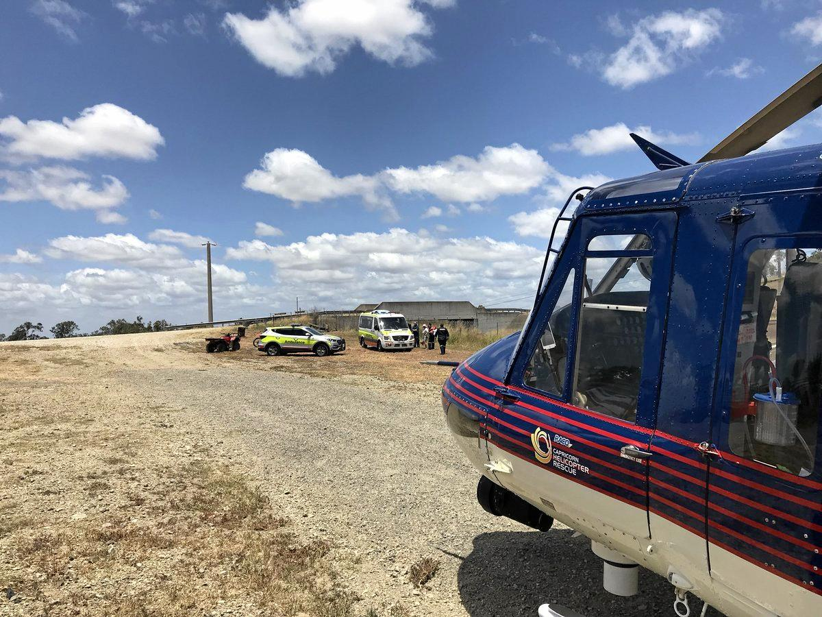 RACQ Capricorn Helicopter Rescue 300 responded to an incident near Bajool on Monday morning.
