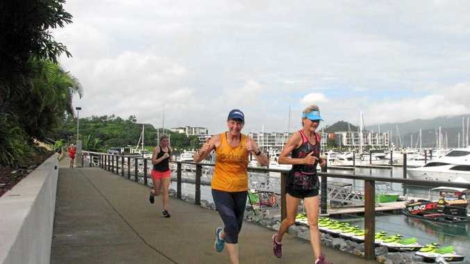 THUMBS UP: It's always lots of fun at Airlie Beach parkrun.
