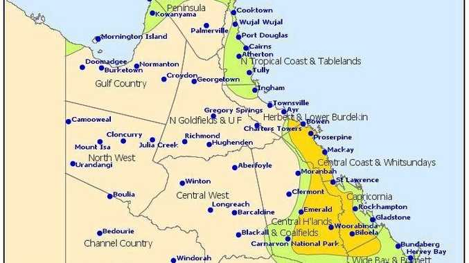 The Bureau of Meteorology has said thunderstorms with the potential for heavy rain and localised flooding are possible across Central Queensland today.