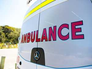 Elderly man hospitalised after three car crash