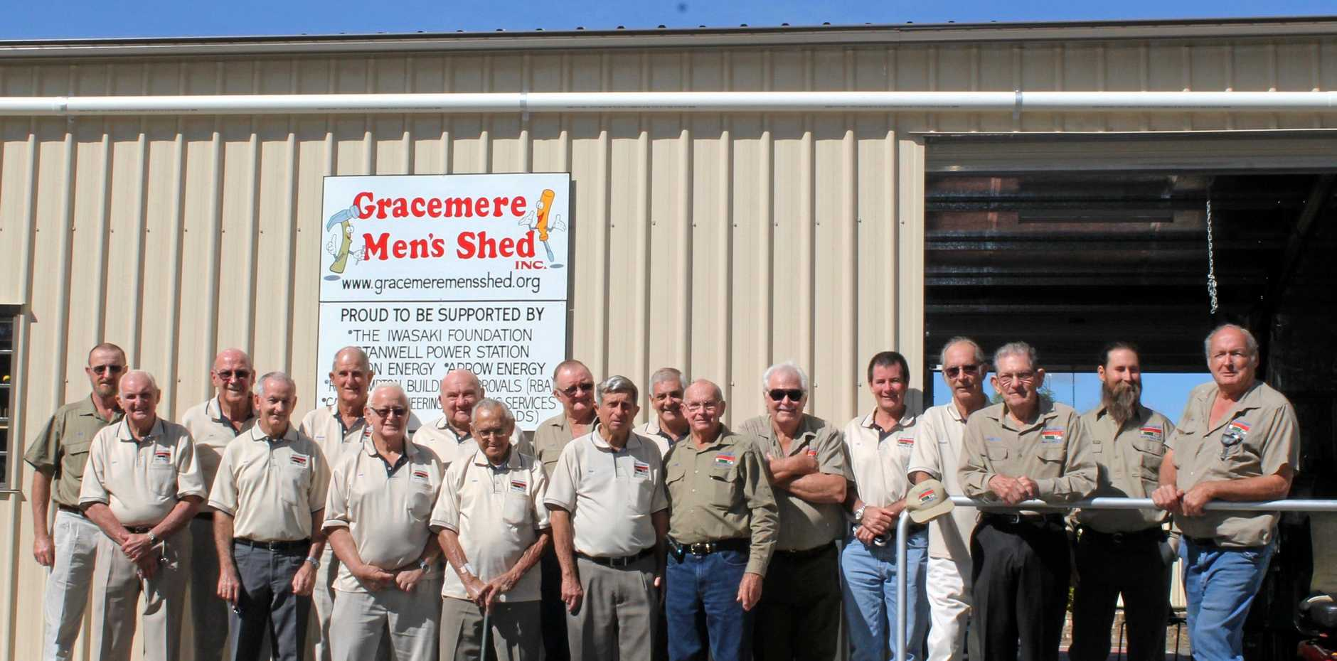 The members of the Gracemere Men's Shed celebrated their first anniversary on February 8 20215.
