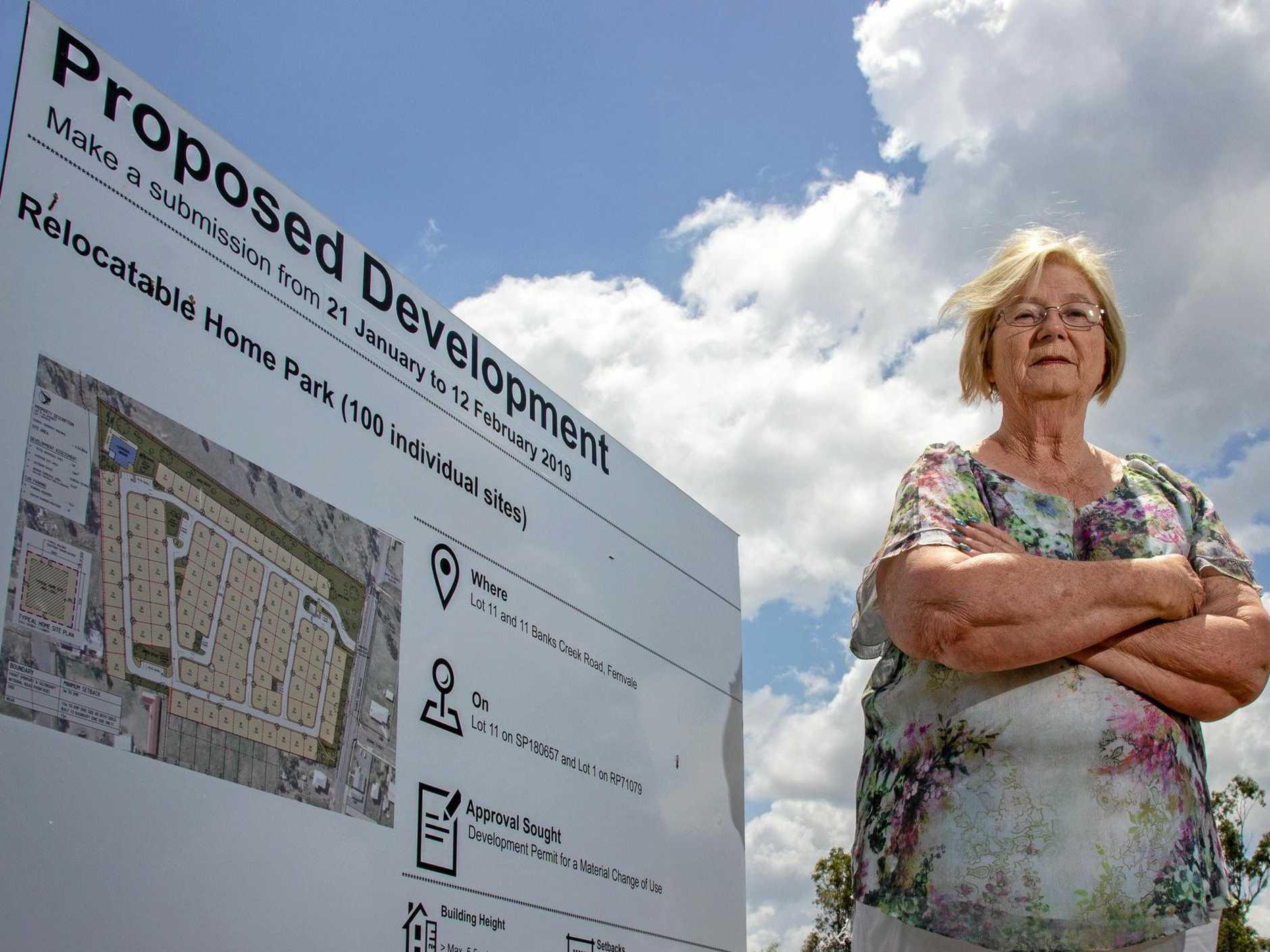 NOT HERE: Fernvale Community Association Inc. president Julia Caunce said Roubaix Properties' proposed developement wasn't appropriate for the Fernvale region.