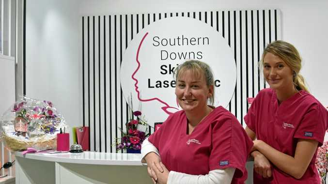 AWARD WINNERS: Southern Downs Skin and Laser Clinic owner Jeanna Scarlett and dermal technician Ryle Waugh.