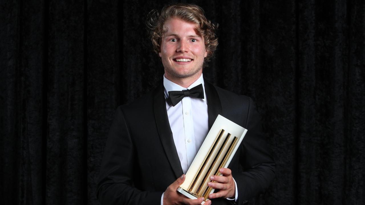 Will Pucovski with his Bradman Young Cricketer award. Picture: Getty Images