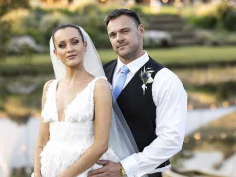 Ines and Bronson from MAFS at their wedding. Picture: Supplied