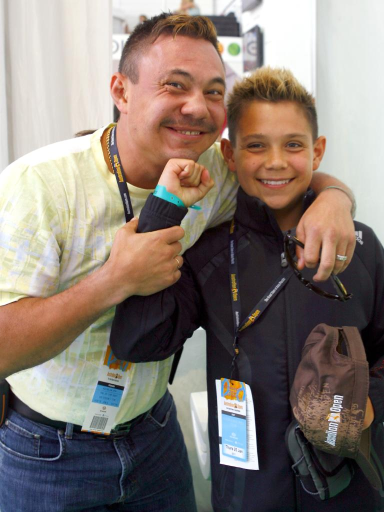 Kostya Tszyu with a young Tim. Picture: Fiona Hamilton